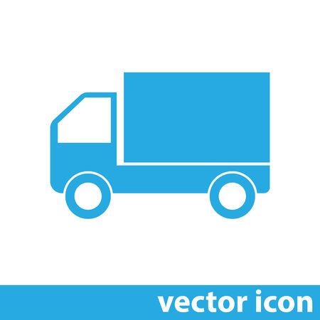 moving van: truck vector icon