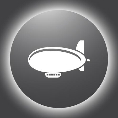 airship zeppelin vector icon Vector