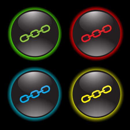hyperlink: chain vector icon Illustration