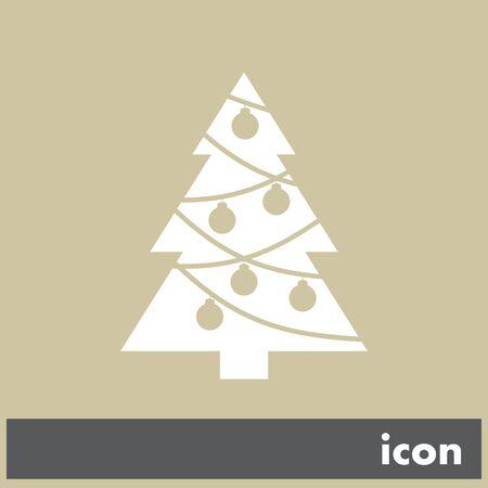 christmas tree vector icon Vector