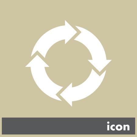 circular arrow sign icon Vector