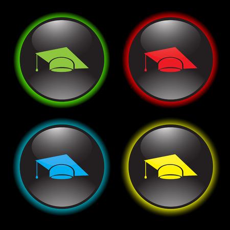 academic achievement: graduation cap vector icon
