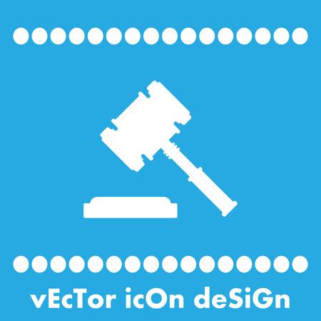 judge hammer vector icon Vector
