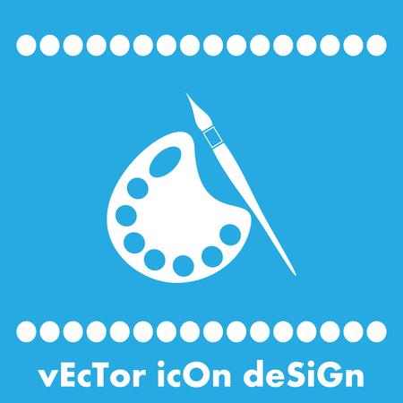 paleta: pincel con el icono de vector paleta Vectores