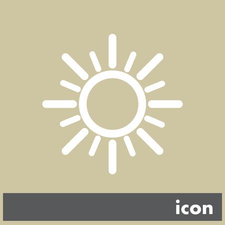 sun vector icon Vector