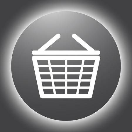 supermarket shopping basket vector icon Vector
