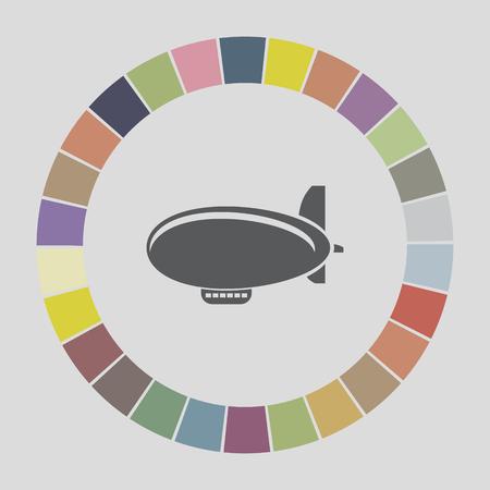 airship zeppelin icon Vector