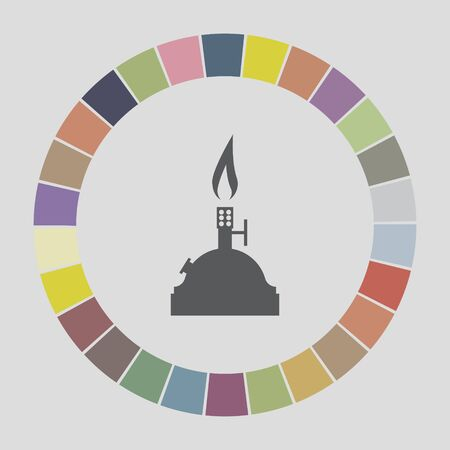 bunsen burner: laboratory burner icon