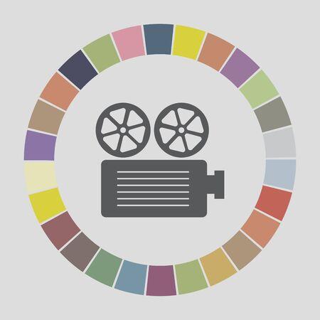 movie projector icon Vector