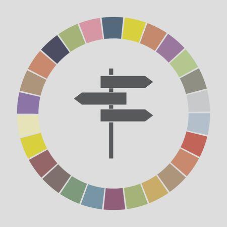 roadsigns: roadsigns icon Illustration