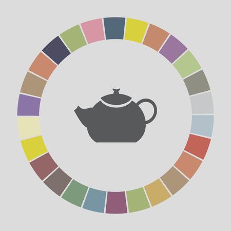 creamer: teapot icon Illustration