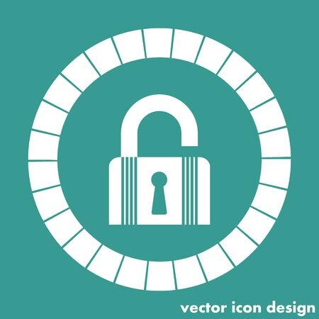 lock open state icon Vector