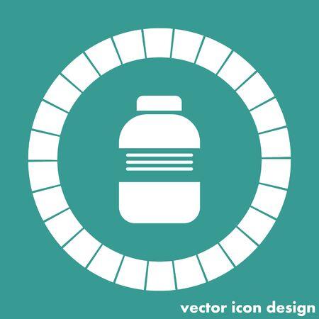 medical bottle: medical bottle icon Illustration