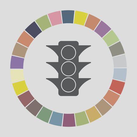 semaphore: sem�foro icono Vectores