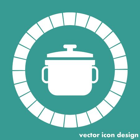 stew pot: stew pot icon Illustration
