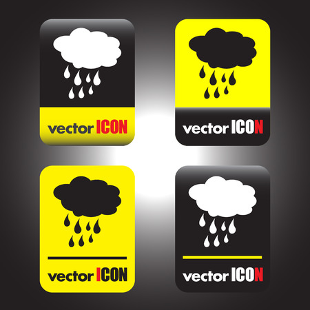 cloud with rain weather vector icon Vector