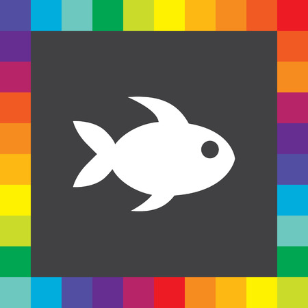 fish icon vector Vector