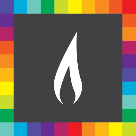 flame vector icon