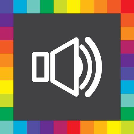 speaker symbol vector icon Vector