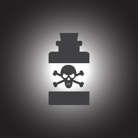 poison bottle: bottle with poison vector icon