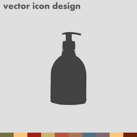 detergent: household detergent cleaning bottle vector icon Illustration
