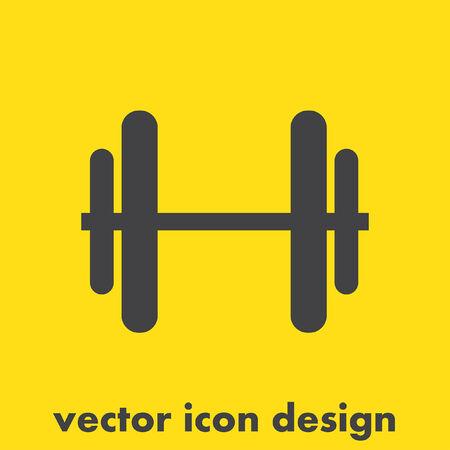 dumbell: icona manubri vettoriale Vettoriali