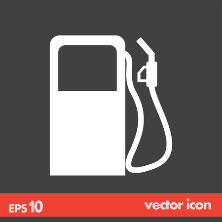 gas station: gas station pump vector icon Illustration