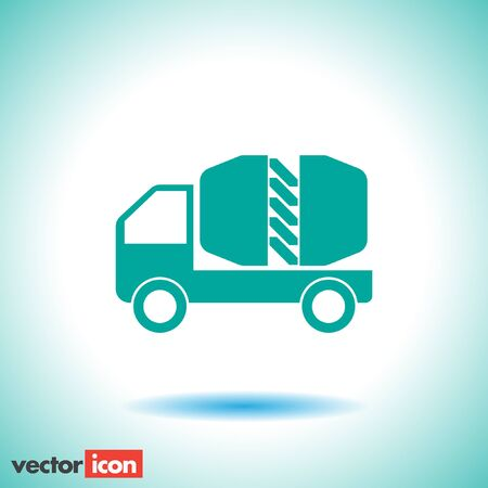 cement truck: cement truck icon Illustration