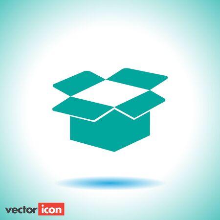 box open: cardboard box open icon Illustration