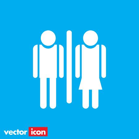woman toilet: man and woman toilet icon