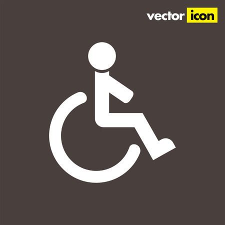 wheelchair: wheelchair vector icon Illustration
