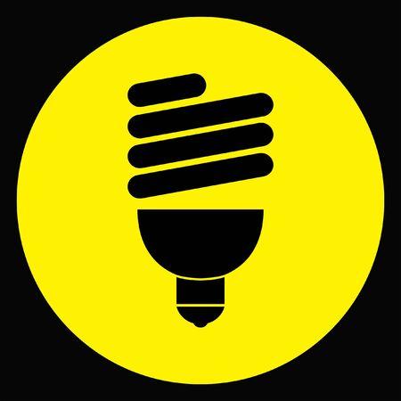 fluorescent light bulb Illustration