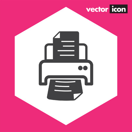inkjet: printer vector icon