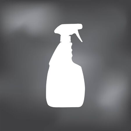 household cleaning bottle icon Illustration