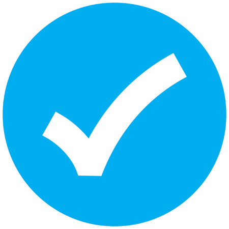 ok sign checkmark icon Vettoriali