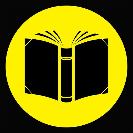 read magazine: open book icon Illustration