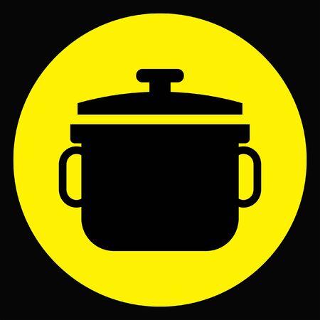 stewpot vector icon