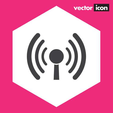 icono wifi: icono de internet wi-fi Vectores