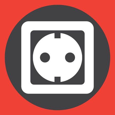 wall plug: power socket vector icon