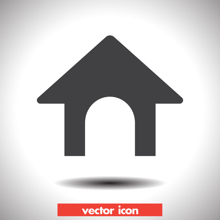 dog house vector icon Vector
