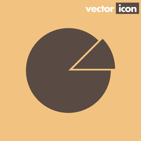 circle background: graph pie vector icon