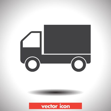set free: truck vector icon