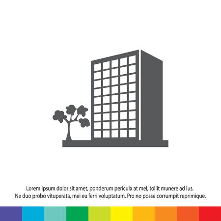office building: building vector icon