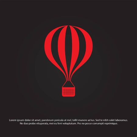 balloon vector: air balloon vector icon