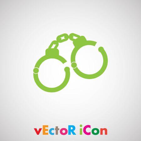 cuffs: handcuffs vector icon Illustration