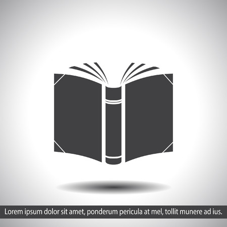 information icon: open book vector icon Illustration