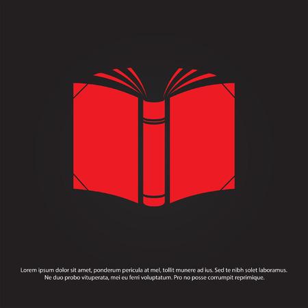 open book: icono de vector libro abierto