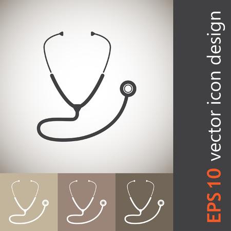 estetoscopio: icono de vector estetoscopio