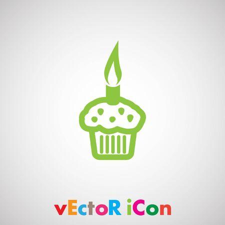 cupcake vector icon Vector