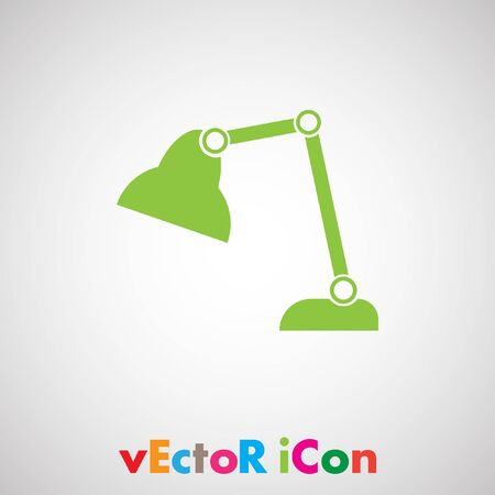 desk lamp vector icon Vector